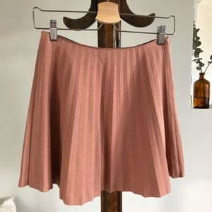 Sister Jane Dusty Pink Pleated Mini Skirt Small